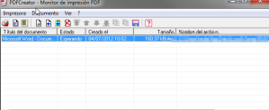 PDF Creator encolar tareas