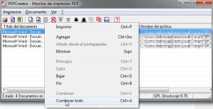 PDF Creator combinar
