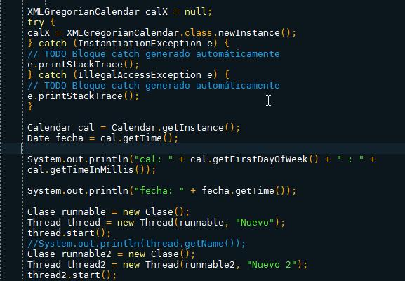 Calendar Java